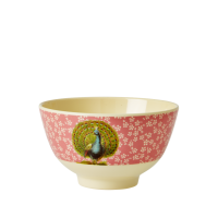 BOL MELAMINE SMALL FLOWER PEACOCK