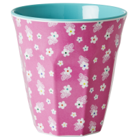 GOBELET MELAMINE MEDIUM TWO TONE FLOWER