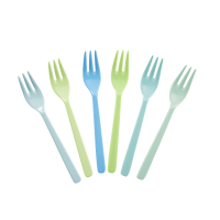 FOURCHETTES MELAMINE X6 GREEN/BLUE