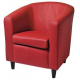 Fauteuil CLUB Gaultier PU RED