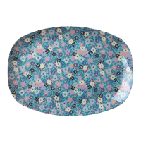 ASSIETTE RECTANGULAIRE MELAMINE SMALL FLOWER