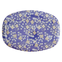 ASSIETTE RECTANGULAIRE MELAMINE HANGING FLOWER