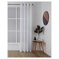 RIDEAUX A OEILLET SHEER 140X223 MISTY WHITE