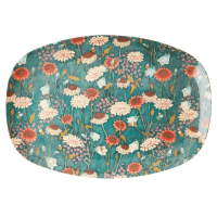 ASSIETTE RECTANGULAIRE MELAMINE FALL FLOWER