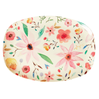 ASSIETTE RECTANGULAIRE MELAMINE SELMAS FLOWER