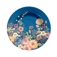 ASSIETTE DESSERT MELAMINE FLOWER COLLAGE