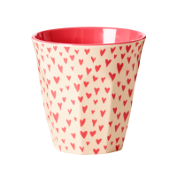 GOBELET MELAMINE MEDIUM SMALL HEARTS