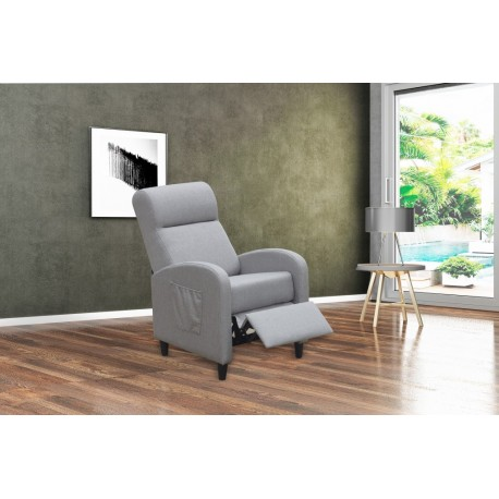 FAUTEUIL RELAX PUSHBACK GRIS FONCE