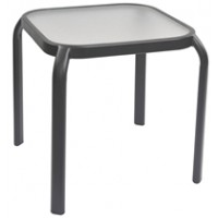 TABLE D'APPOINT VERRE/METAL MARQUEE