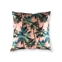 TAIE COUSSIN MOJO LA PALM PINK 60X60