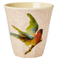 GOBELET MEDIUM PINK FLOWER BIRD