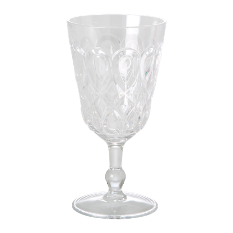 VERRE A VIN ACRYLIQUE TRANSPARENT